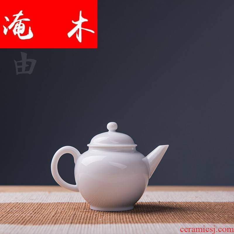 Submerged wood jingdezhen sweet white glazed ceramic teapot xi shi pot of white porcelain jug kung fu tea set thickening belt filter list