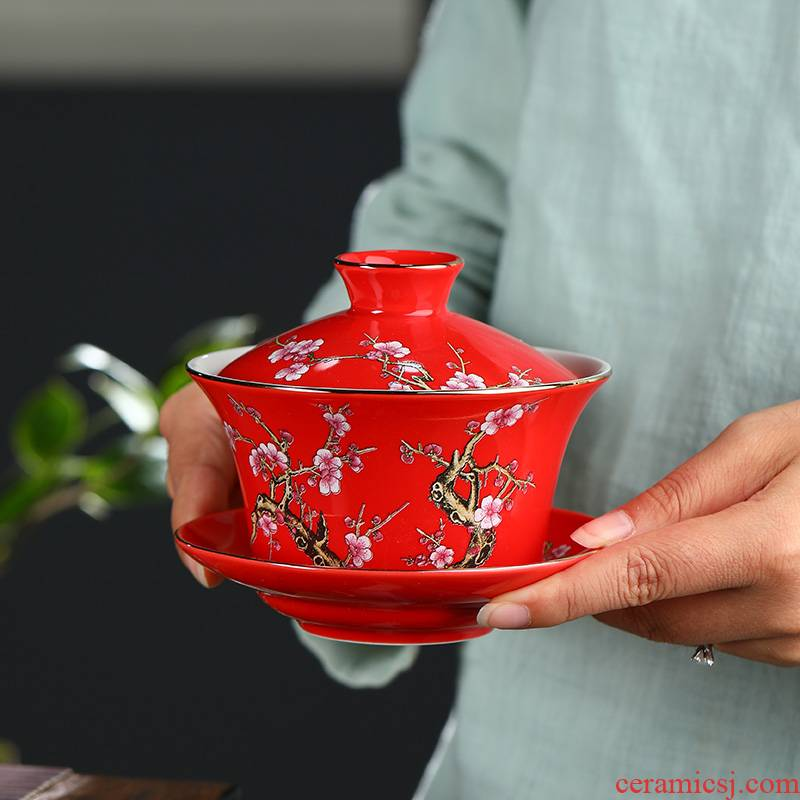 300 ml three bowls of large - sized ceramic cups in a bowl of restoring ancient ways of make tea tureen tea cup three mercifully cover cup