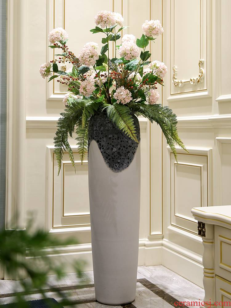I and contracted large vase Nordic furnishing articles between sitting room flower arranging hotel villa example white pottery decoration
