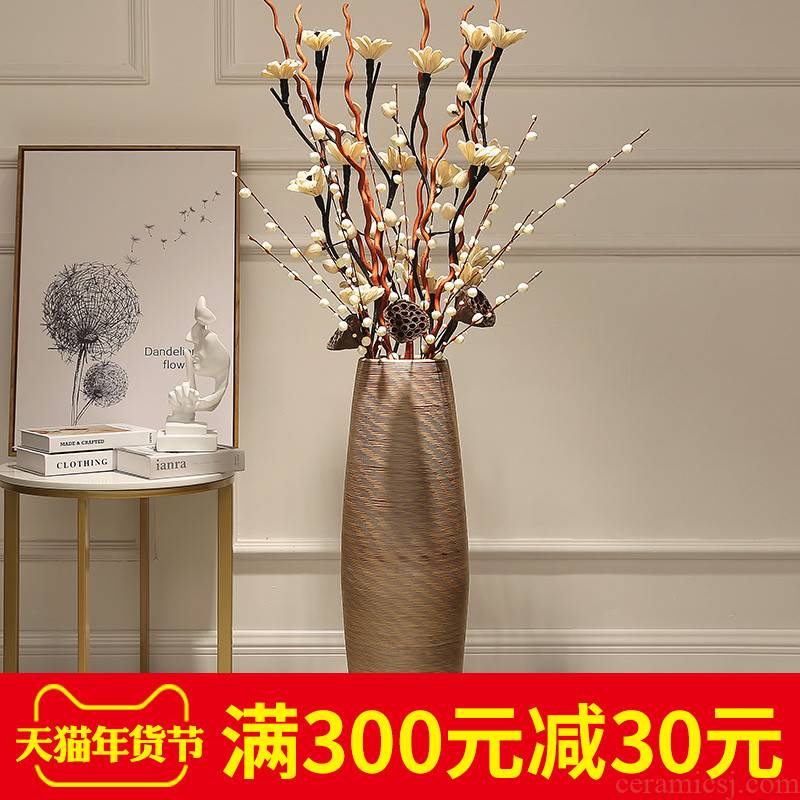 Jingdezhen I and contracted large vase sitting room ground study European ceramic flower arranging flower, adornment is placed