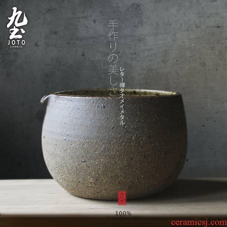Nine soil coarse pottery tea by hand wash to Japanese style to use dry hot bowl of tea tea barrel barrel soil TaoJianShui tea to wash