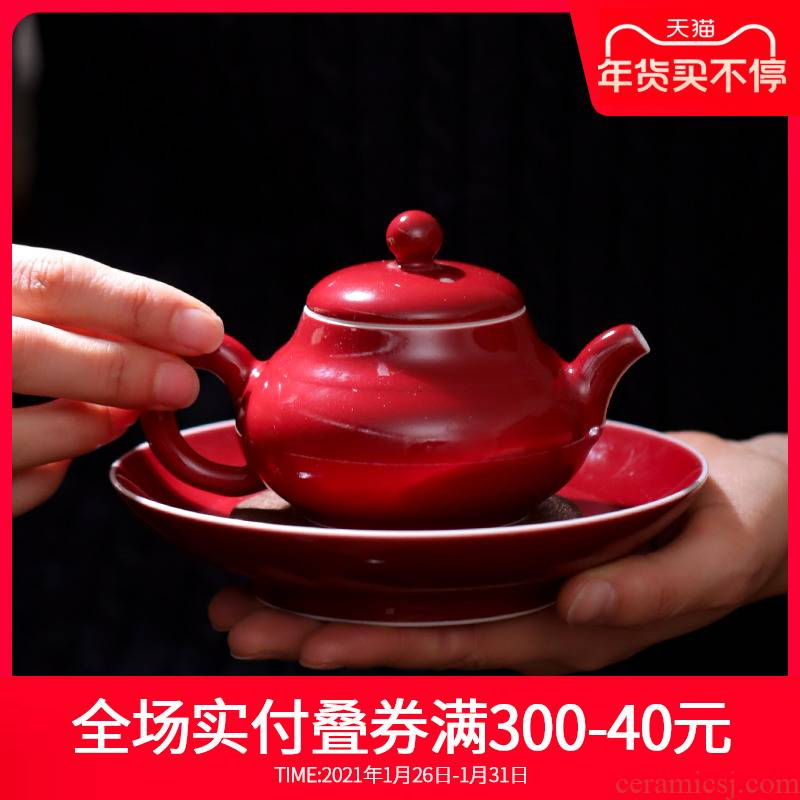 Ji red tea pot bearing sets jingdezhen ceramic one little teapot tea dispenser single pot, kettle by hand