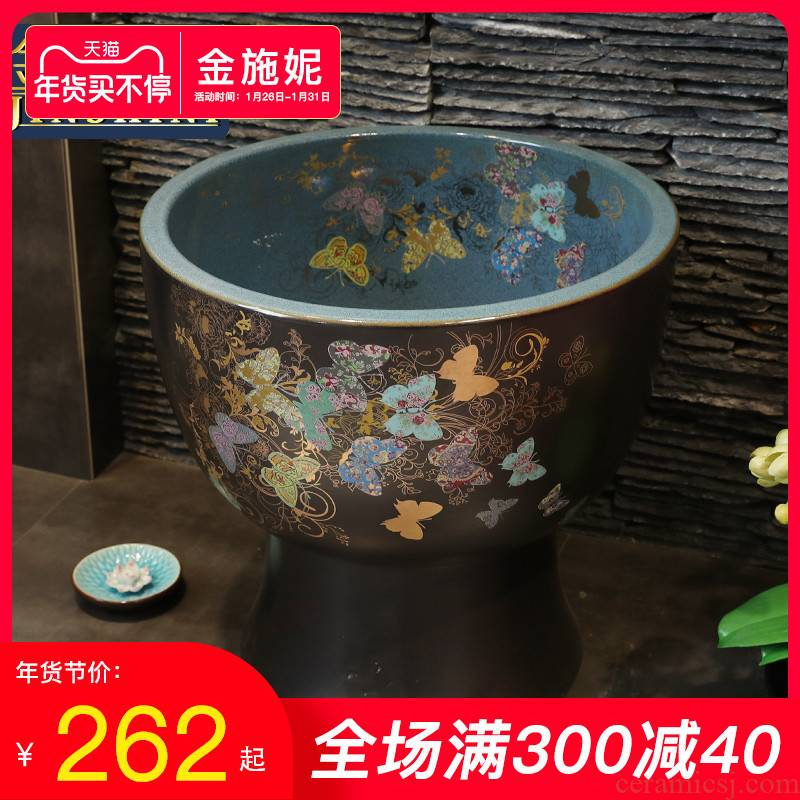 Gold cellnique cleaning mop pool ceramic mop pool balcony towing basin bathroom sink small floor type household