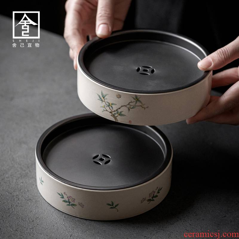 "The Self - ""appropriate content of jingdezhen ceramic dry plate of small tea home small circular water dry ground mercifully tea"