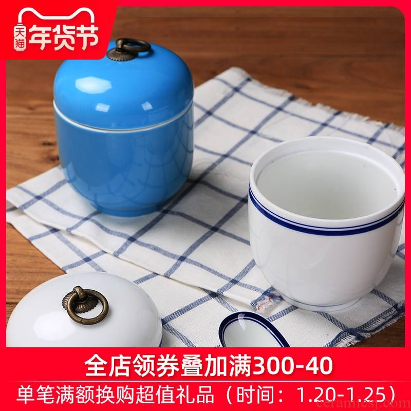 Jingdezhen ceramic cup with cover every water stew stew ipads China small household with cover cup bird 's nest soup cup stew stew pot