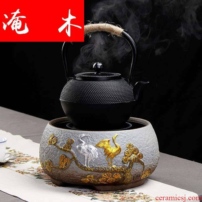 Submerged wood, ceramic iron pot of tea kettle the boiled tea, the electric TaoLu suit black tea pu - erh tea, white tea boiled tea steam mercifully