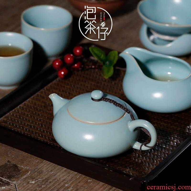 Teapot azure your up open little Teapot kunfu tea ceramic single pot of your porcelain Chinese style restoring ancient ways is pure manual household