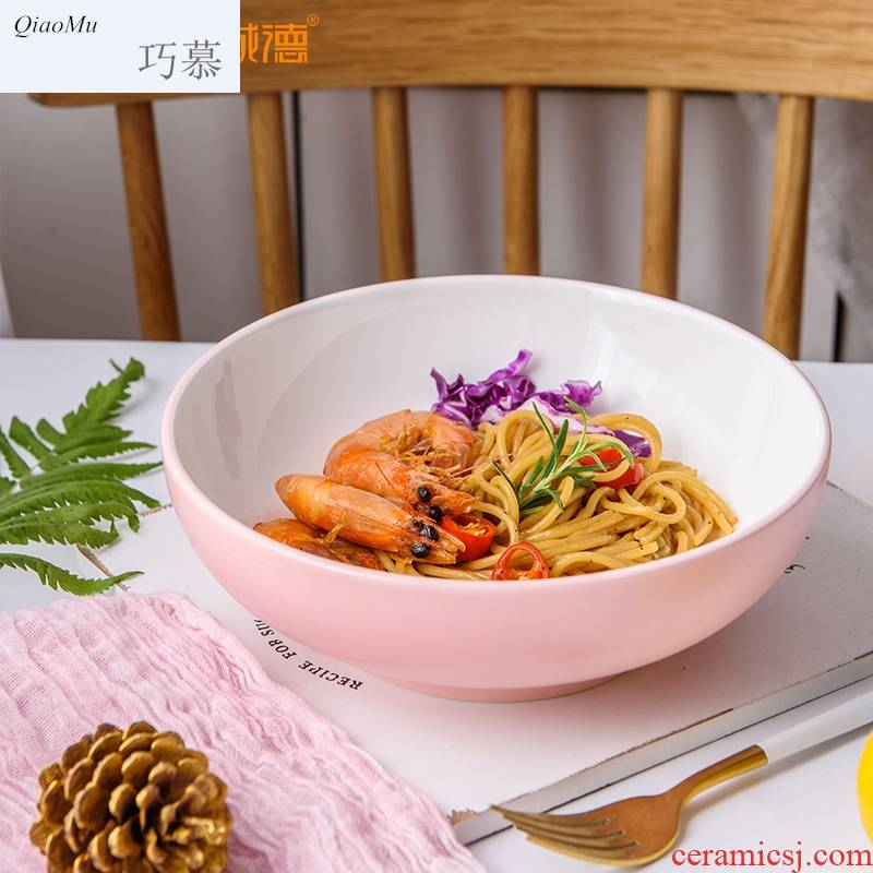 Qiao mu northern dishes dishes contracted household ceramics tableware portfolio snack bowl noodles salad bowl