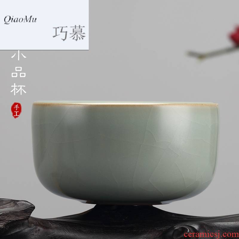 Qiao mu measured your up open cups can raise the master cup of jingdezhen ceramics by hand personal sample tea cup your porcelain cup