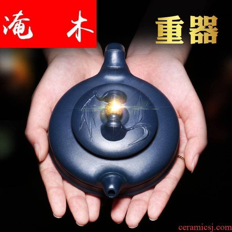 Submerged wood yixing are it by pure manual undressed ore authentic purple clay teapot fortunes kung fu tea POTS