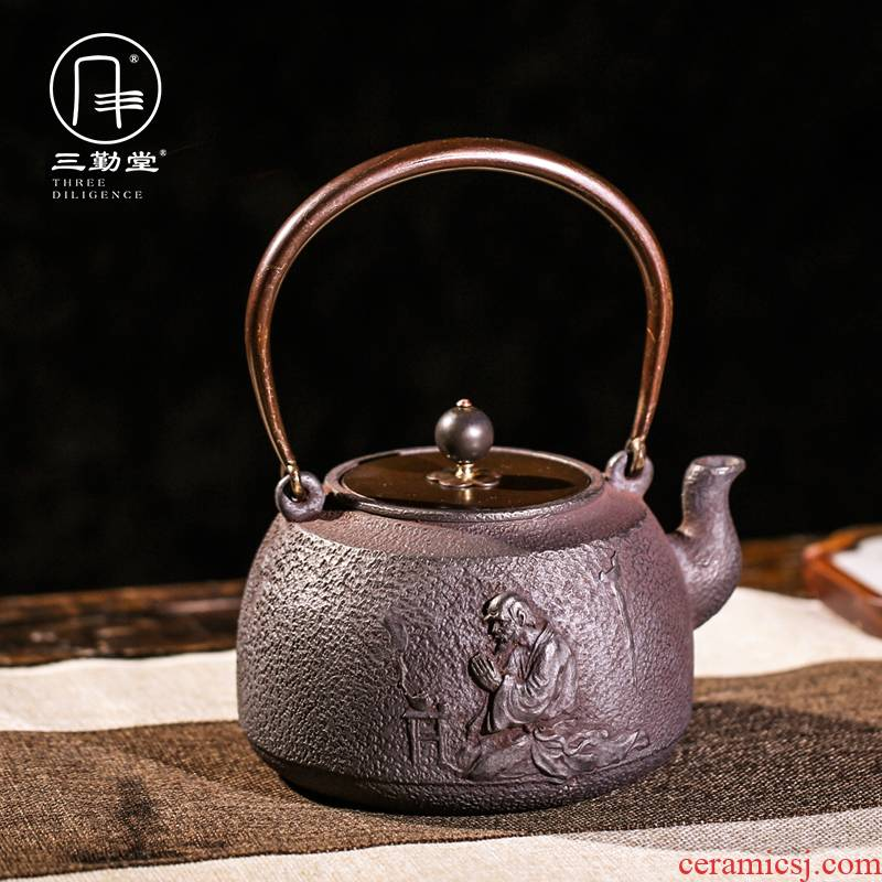 The three regular iron pot of cast iron teapot kettle imitated Japanese manual arc TaoLu S28001 pot of boiled water without coating machine