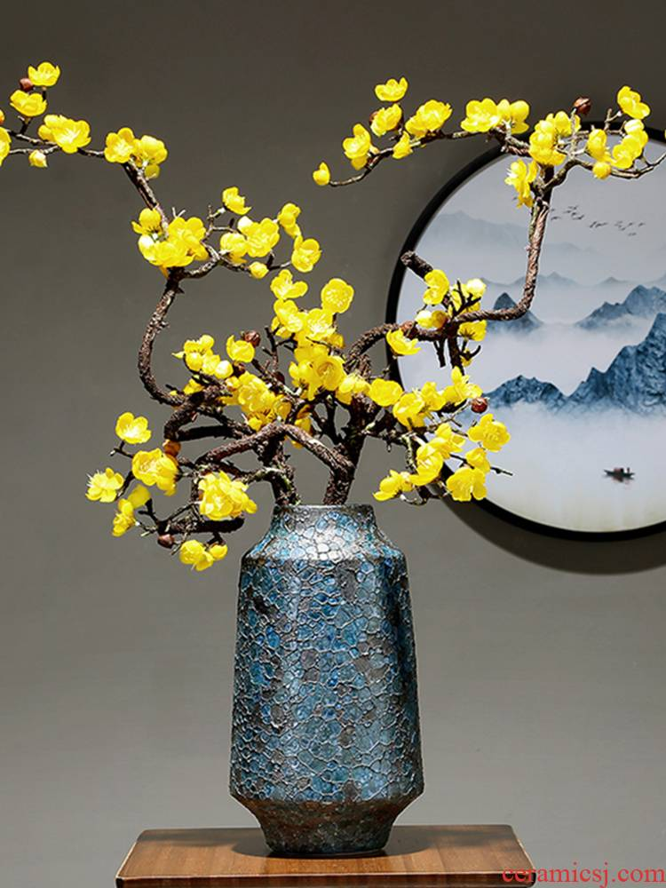 Jingdezhen ceramic vase creative decoration in the sitting room home study of I and contracted table dry flower adornment furnishing articles