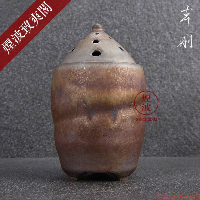 Those Japanese pottery master expedition just iridescent cloud droplets temmoku glaze hand - made scented furnace