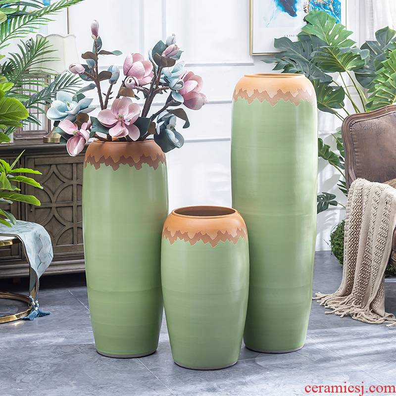 The Big vase furnishing articles sitting room ground of modern Chinese style flower dried flowers home sitting room villa hotel ceramic POTS