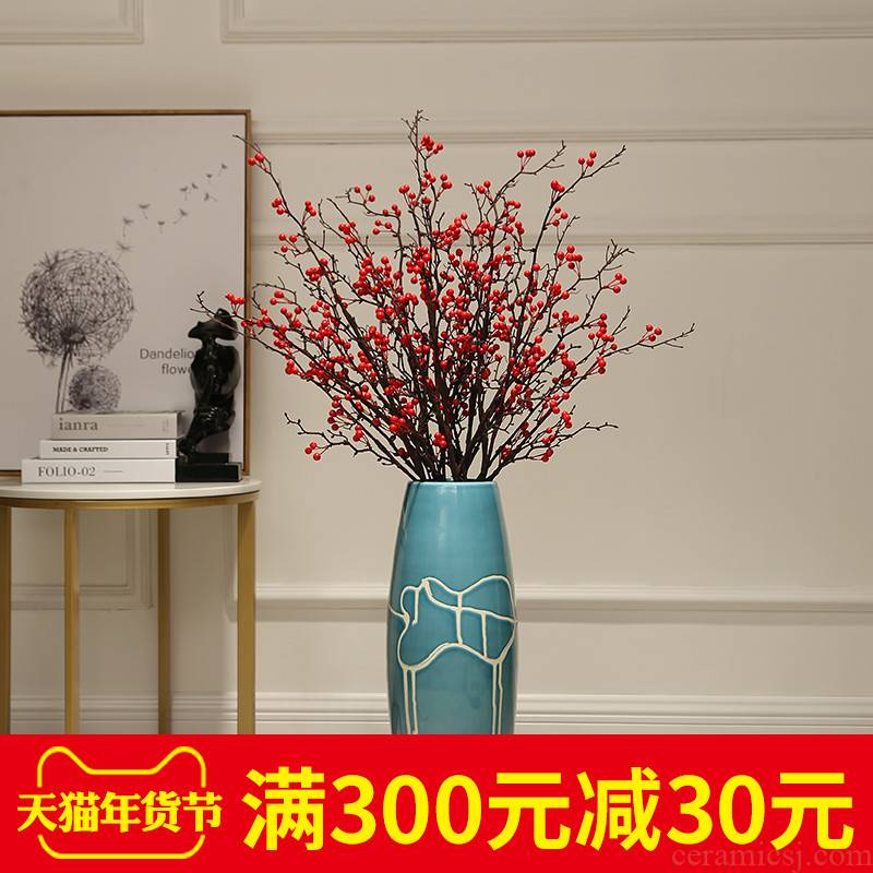 Vase landing, the sitting room is I and contracted artical dry flower arranging flowers tall ceramic Vase decoration furnishing articles