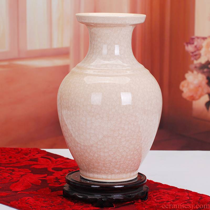 245 jingdezhen ceramic crystalline glaze white vase household act the role ofing is tasted furnishing articles sitting room flower arranging art crafts