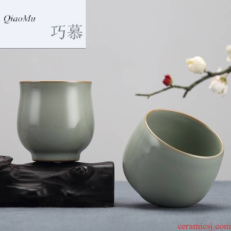 Qiao mu measured your up open cups can raise the master cup of jingdezhen ceramics by hand the cup personal single cup sample tea cup