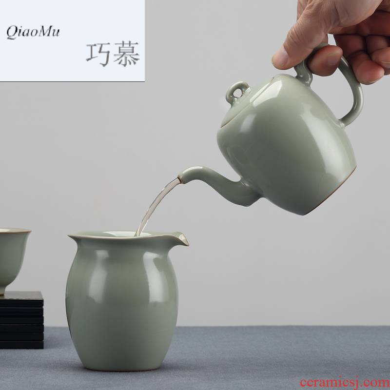 Qiao mu measured your up teapot sets jingdezhen kung fu restoring ancient ways of a complete set of tea cups can support creative by hand