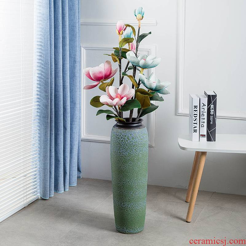 Jingdezhen ground vase large - sized ceramic sitting room place I and contracted household adornment flower arranging European big restoring ancient ways