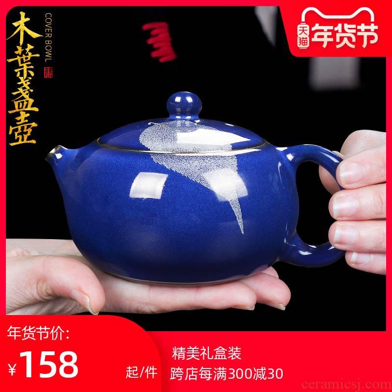 Artisan fairy up konoha built lamp that pure manual household sapphire blue xi shi pot of ceramic teapot kung fu tea teapot