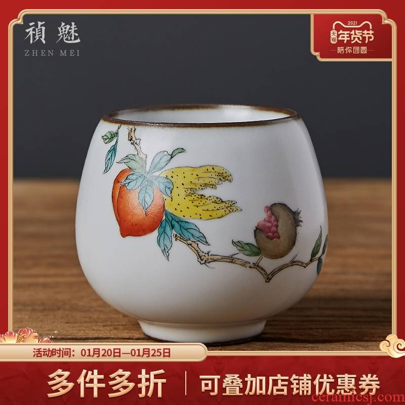 Shot incarnate your up hand - made bergamot jingdezhen ceramic cups kung fu tea master sample tea cup cup personal single CPU