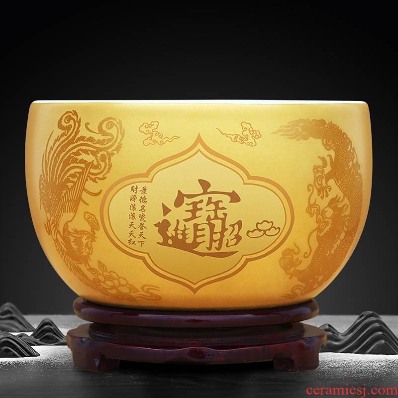 Jingdezhen ceramic cornucopia furnishing articles sitting room porch feng shui plutus household saving pot shops opening gifts