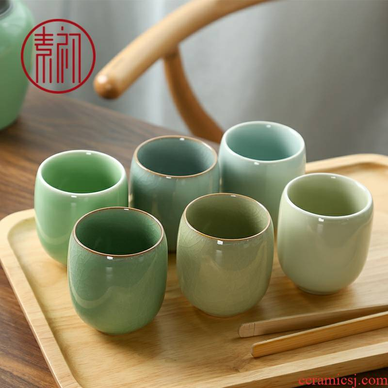 Ceramic cups water cup six color on tea cup elder brother up kung fu tea cups ru up market metrix one cup