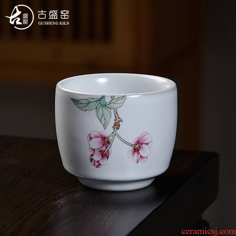 Ancient sheng up master kung fu tea cup hand - made ceramic sample tea cup very beautiful checking your up single cup of tea