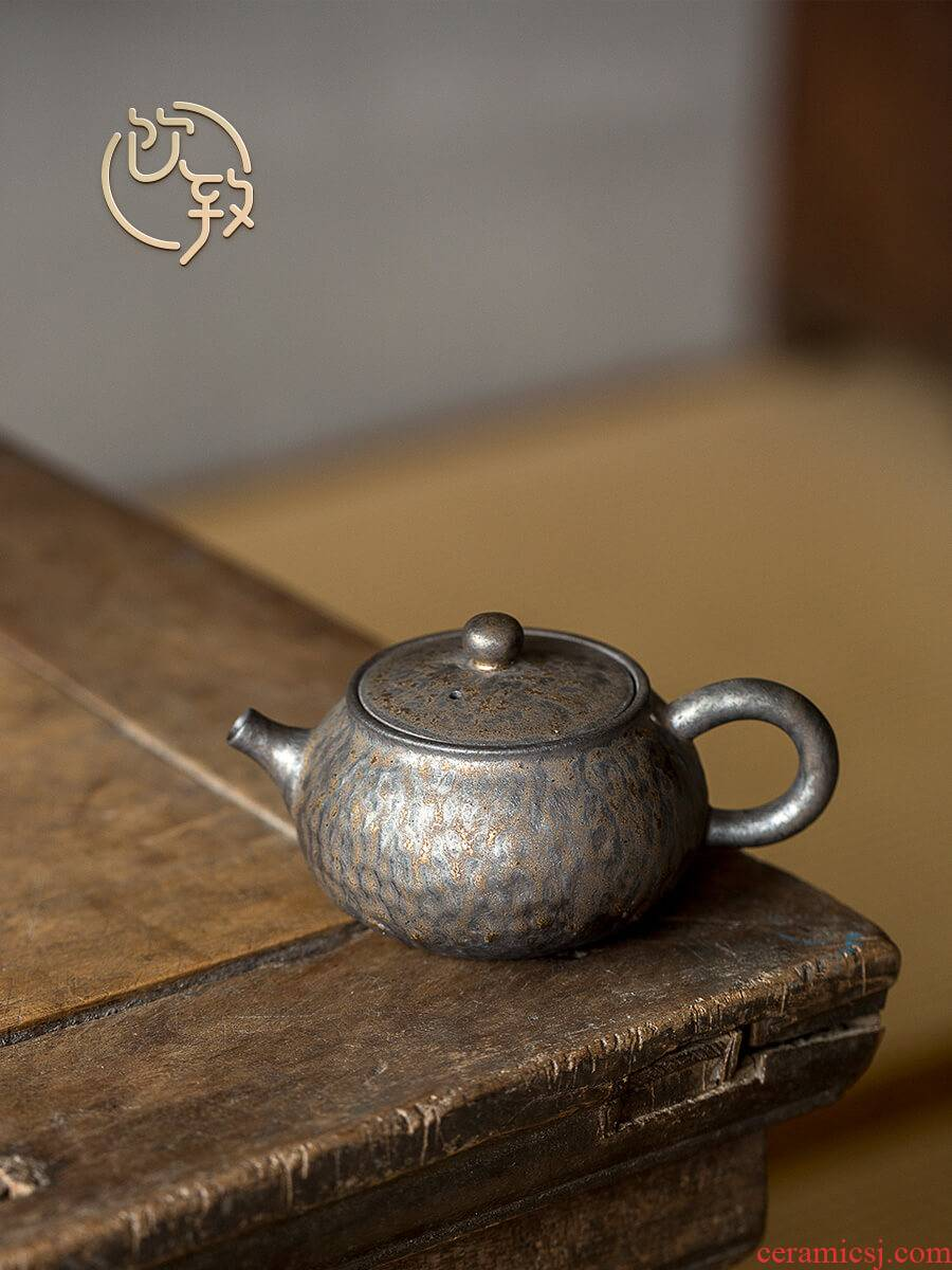 Ultimately responds to antique gold glaze teapot Japanese rough now people make tea by hand the machine ceramic single pot of kung fu tea set