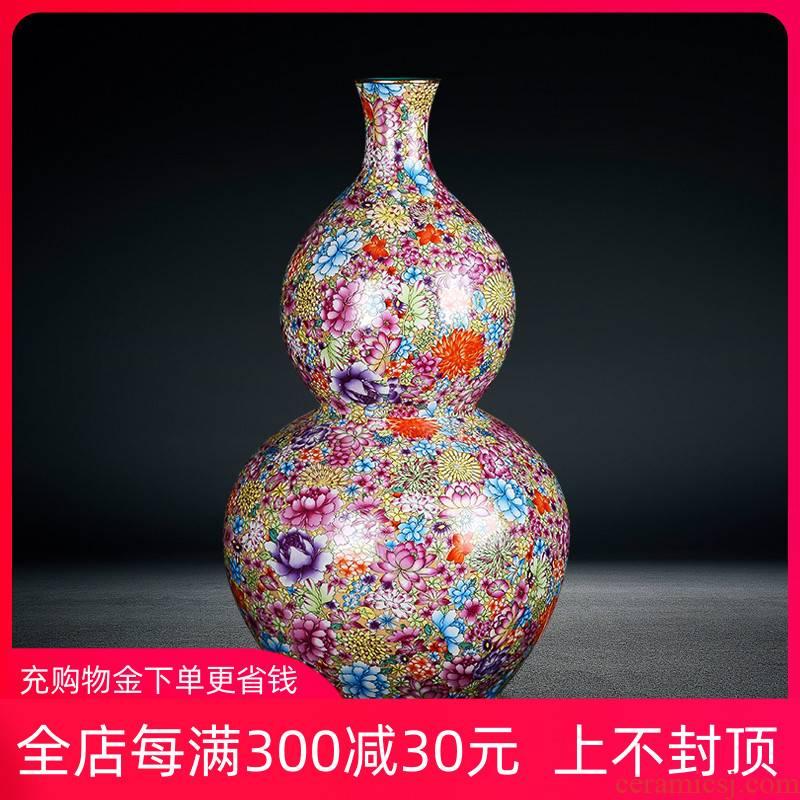 Jingdezhen ceramics landing large vases, flower arrangement sitting room home furnishing articles antique flower vases