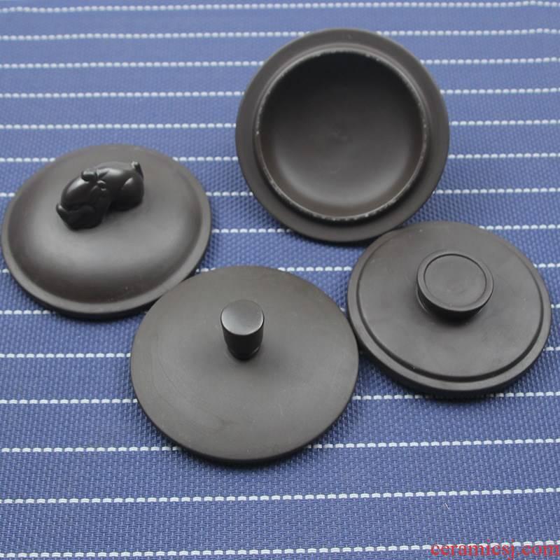 Single sell purple lid purple lid bowl lid ceramic keller cup tea cup round accessories