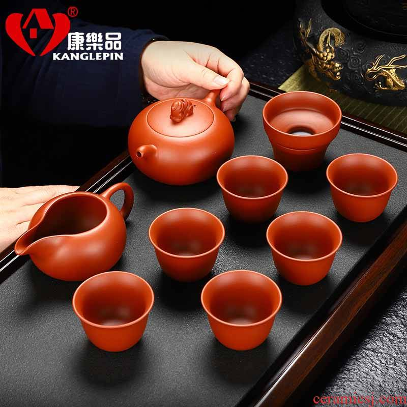 Recreational products fair purple sand tea set suit pure manual benevolent pot cup kung fu tea tea cups, gift boxes