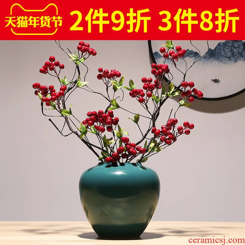 Jingdezhen porcelain vase modern creative porch decoration vase contracted atmosphere of TV bar face decorative vase