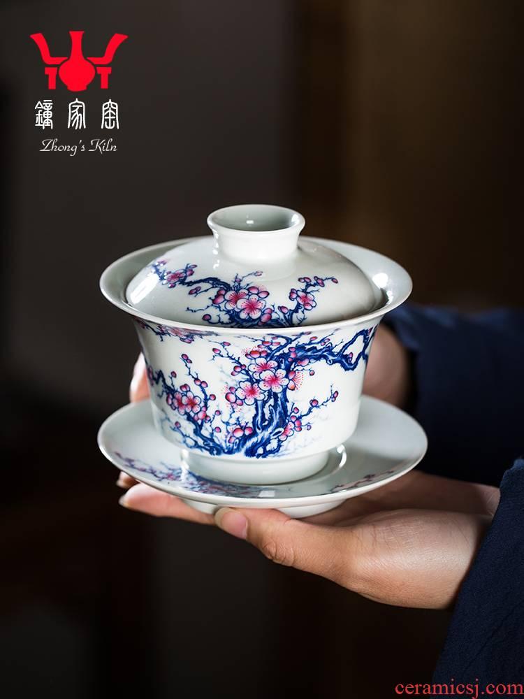 Clock at jingdezhen up tureen single tureen tea cups set three tureen single is not large