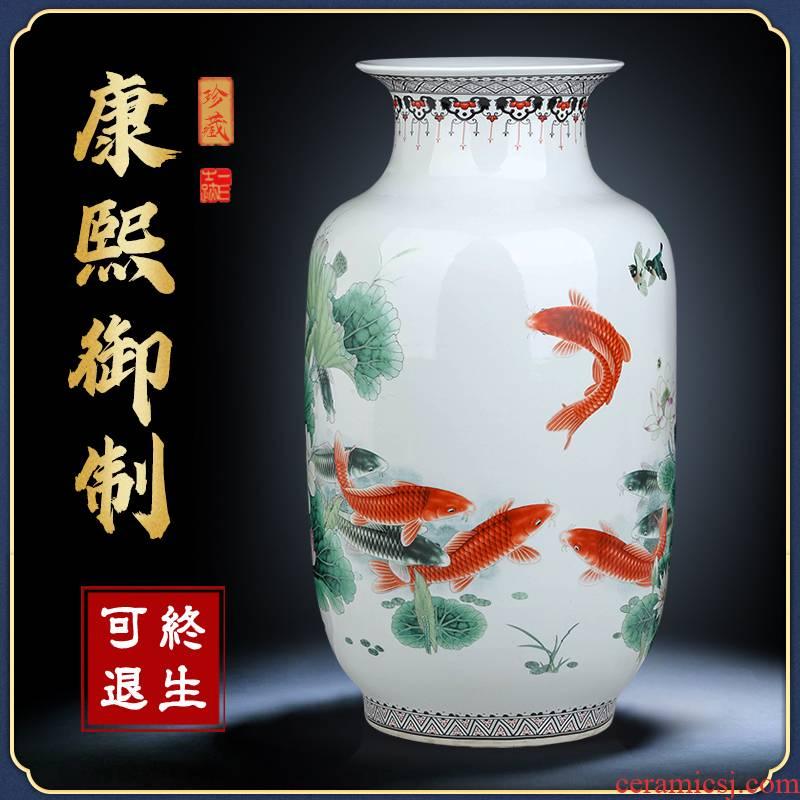 Jingdezhen ceramics vase furnishing articles flower arranging large sitting room be born home TV ark adornment restoring ancient ways furnishing articles