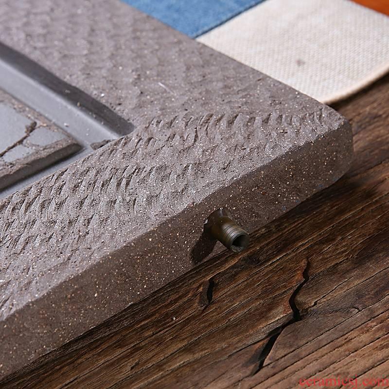 Qiao mu JS yixing purple sand tea tray tray was contracted drainage tea tray case kombucha tea tea tea tea