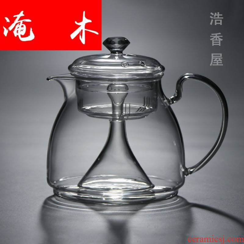 Submerged wood electric heating glass TaoLu steaming kettle black tea steam boiling tea, induction cooker kettle teapot single pot