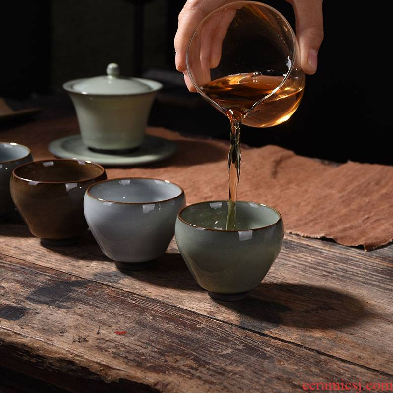 Five of ancient sheng up new gift boxes up - market metrix 'personal tea cups of jun porcelain glaze thick celadon tea cups of kung fu