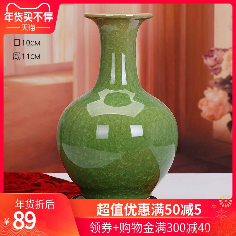 Open the slice 366 classical jingdezhen porcelain ceramic color glaze vase decoration vase household decorative furnishing articles