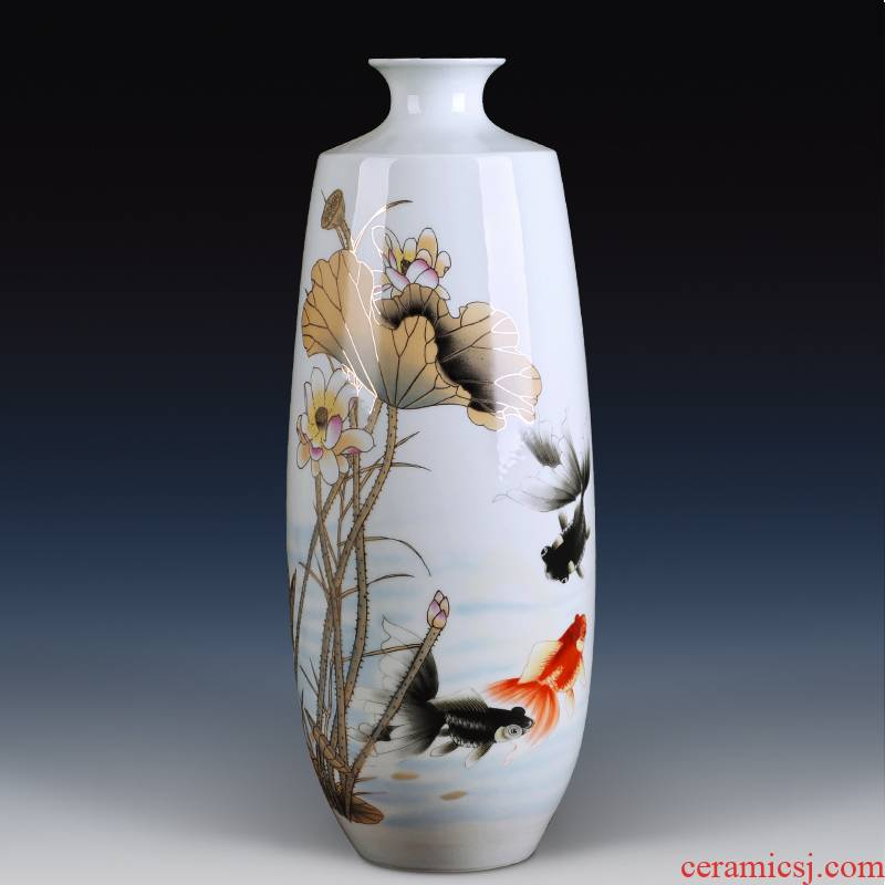 Contracted and I jingdezhen ceramics vase famille rose porcelain gifts sitting room porch home new home furnishing articles flower arrangement