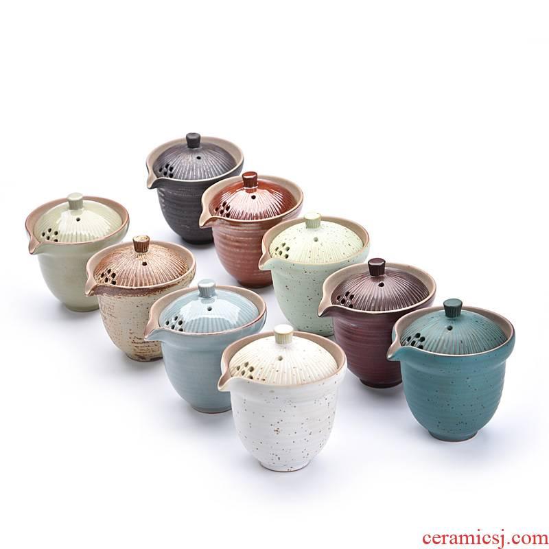 Hui shi Japanese hand grasp pot of large - sized tureen tea cup of hot tea. Preventer coarse pottery crack ceramic cup finger bowl