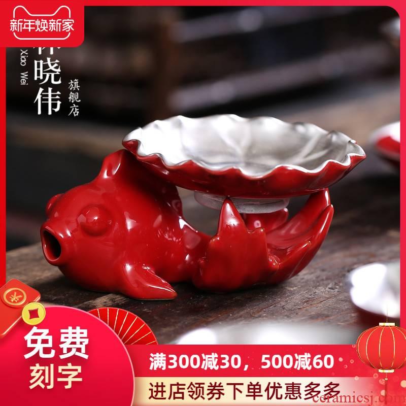 999 sterling silver) suit ceramic filter tea every tea strainer screen making tea, kungfu tea accessories