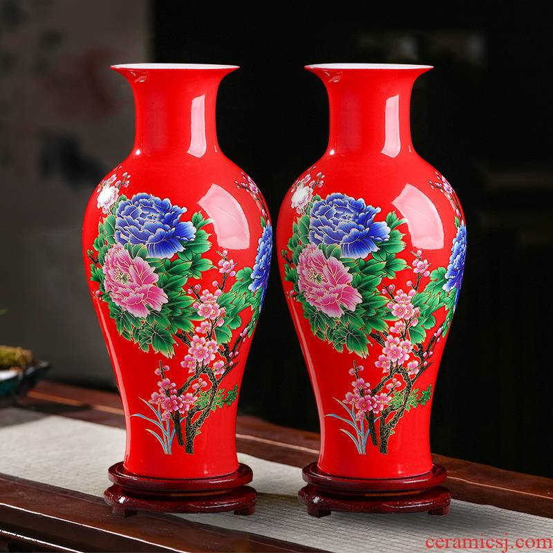 Jingdezhen ceramics vase furnishing articles sitting room flower arranging water raise lucky bamboo vase household living room TV cabinet act the role ofing is tasted