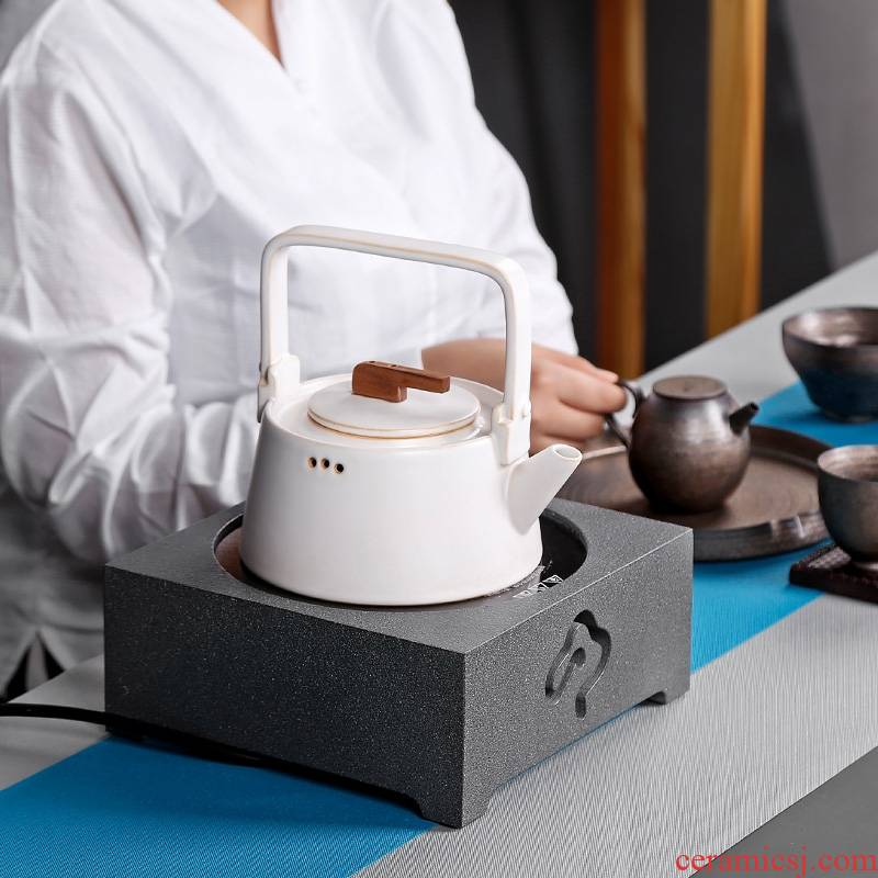 Qiao mu PMZ Japanese electric heating TaoLu kunfu tea kettle base.mute tea household mini small don 't pick