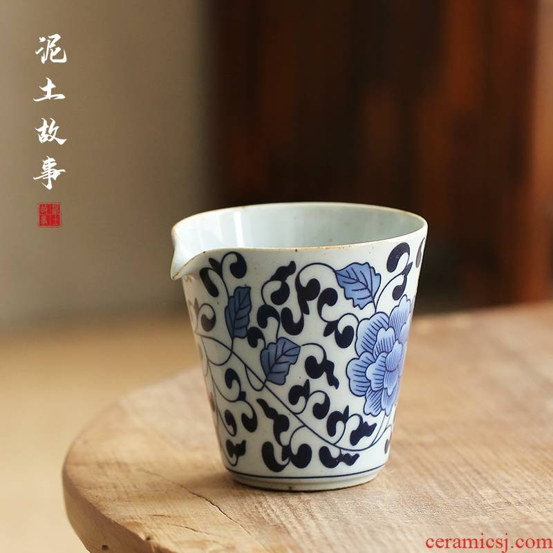 Jingdezhen hand - made porcelain bound lotus flower fair cup and cup points) a cup of tea is tea sea kung fu tea accessories