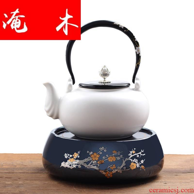 Submerged wood soda glaze white clay pot teapot girder clay POTS to boil tea kettle electric TaoLu special high temperature resistant ceramic