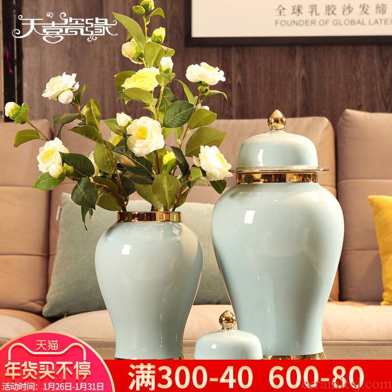 I and contracted Europe type general ceramic pot furnishing articles creative living room TV cabinet flower arrangement, household adornment ornament