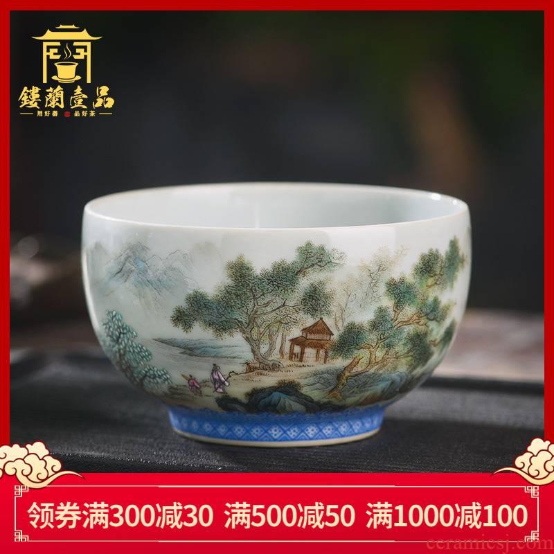 Jingdezhen ceramics all hand - made pastel khe sanh friends master cup tea cup personal single cup tea cups