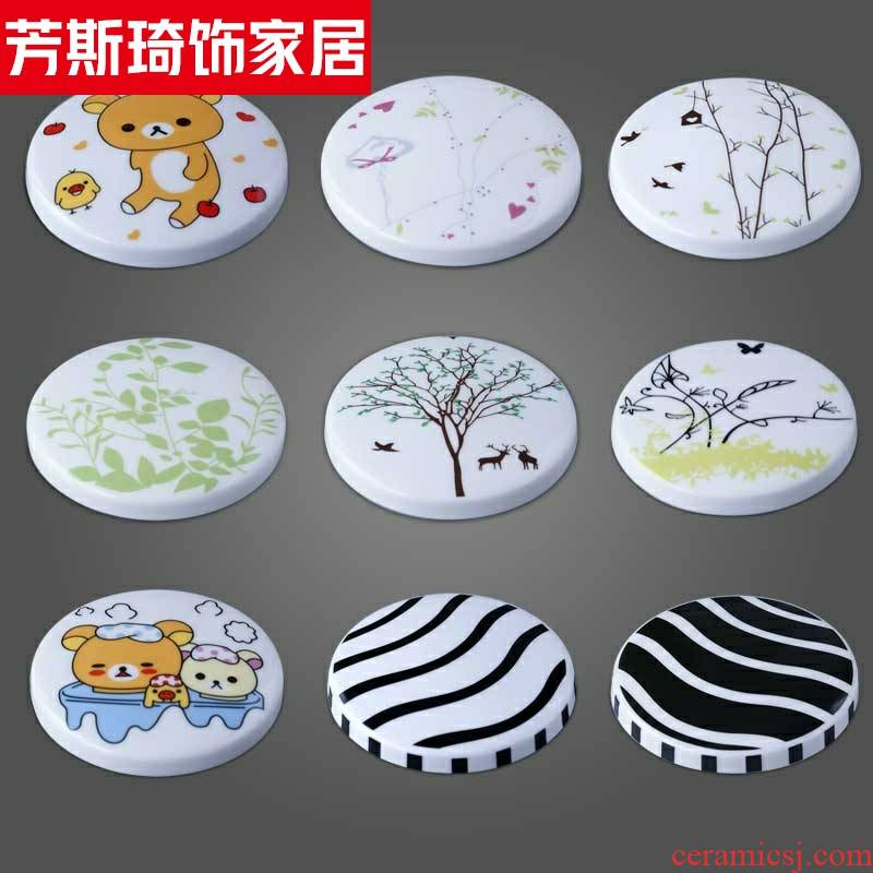 The Ceramic keller cup lid cup lid mark circular lid accessories ipads porcelain lid