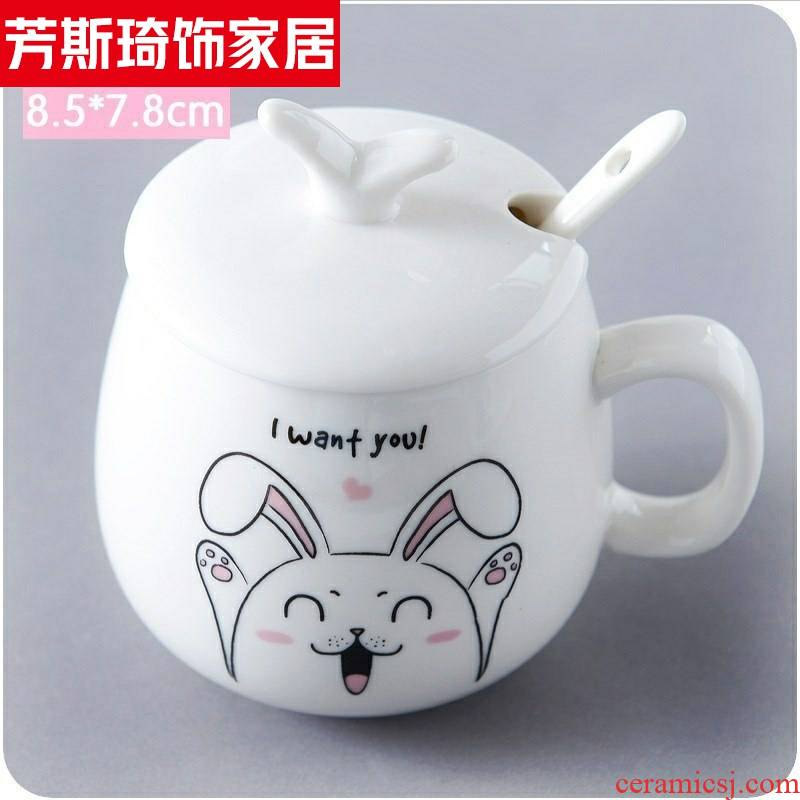 Lovely cup with cover run cereal breakfast milk coffee cup creative mugs ceramics super girl of water mark.